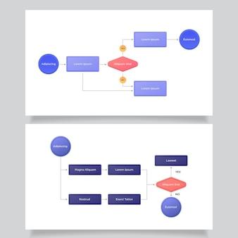Plantilla de infografía para diagrama de flujo