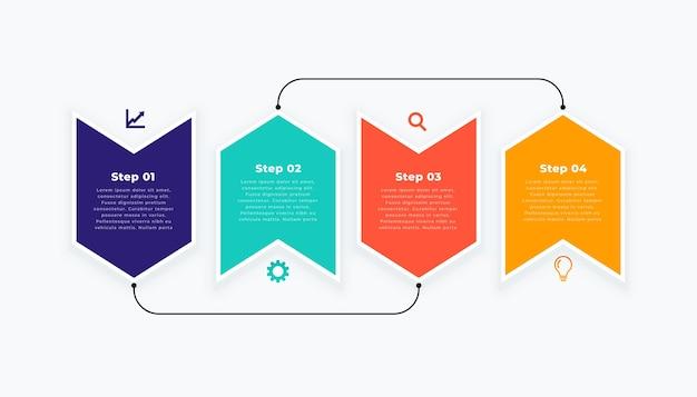 Plantilla de infografía en diseño moderno