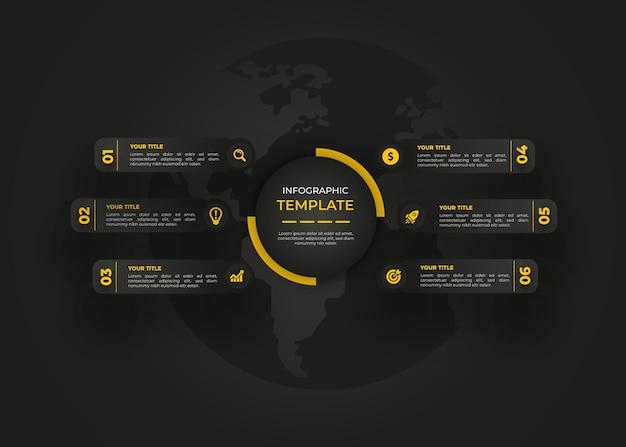Plantilla de infografía de diseño moderno