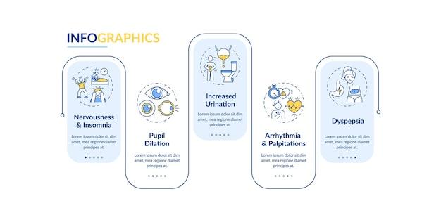 Plantilla de infografía de efectos negativos de energía