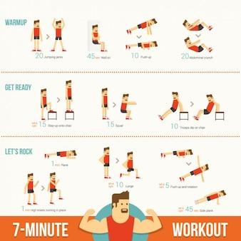 Plantilla de infografía de ejercicios