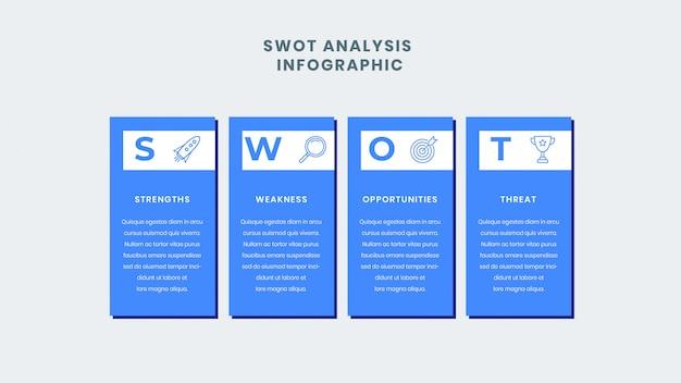 Plantilla de infografía empresarial de análisis foda