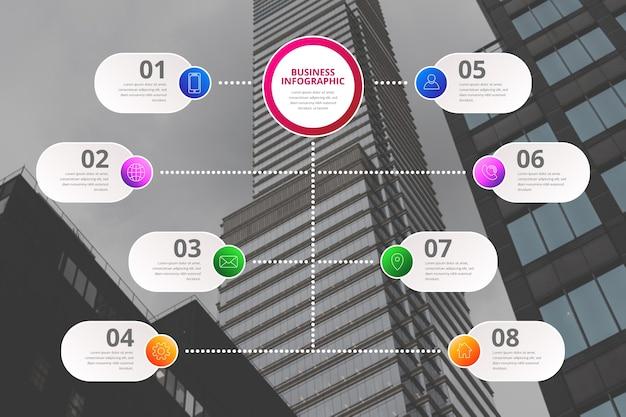Plantilla de infografía empresarial con foto