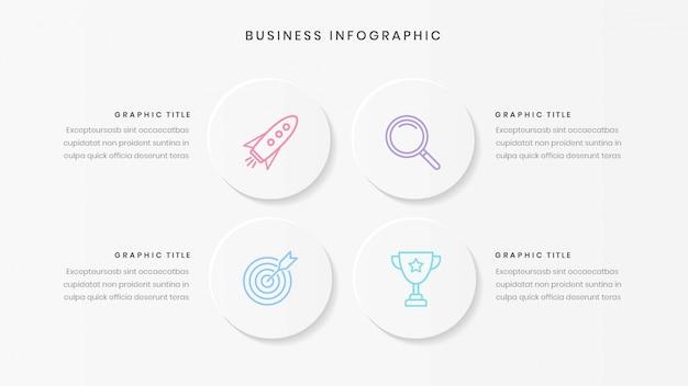 Plantilla de infografía empresarial minimalista