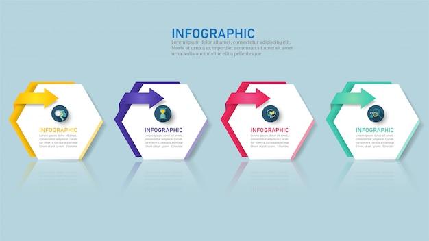 Plantilla de infografía empresarial con opciones