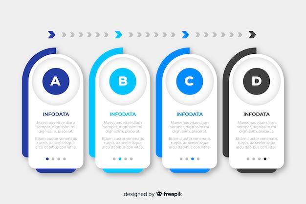 Plantilla de infografía empresarial pasos