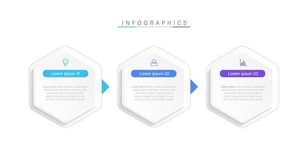 Plantilla de infografía empresarial plana