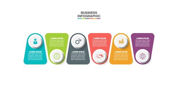 Plantilla de infografía empresarial de presentación con opciones.