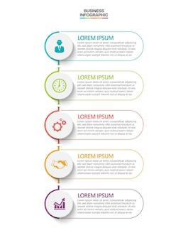 Plantilla de infografía empresarial de presentación con opciones