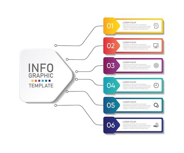 Plantilla de infografía empresarial de presentación