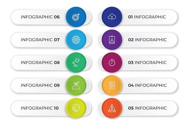 Plantilla de infografía empresarial de tercios inferiores
