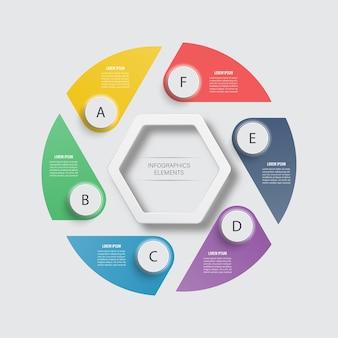 Plantilla de infografía empresarial.