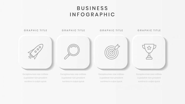 Plantilla de infografía empresarial