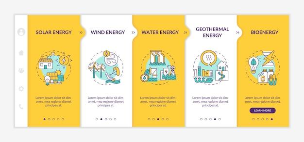 Plantilla de infografía de energía limpia de energía eólica y solar. elementos de diseño de presentación de electricidad. visualización de datos en 5 pasos. gráfico de la línea de tiempo del proceso. diseño de flujo de trabajo con lineal
