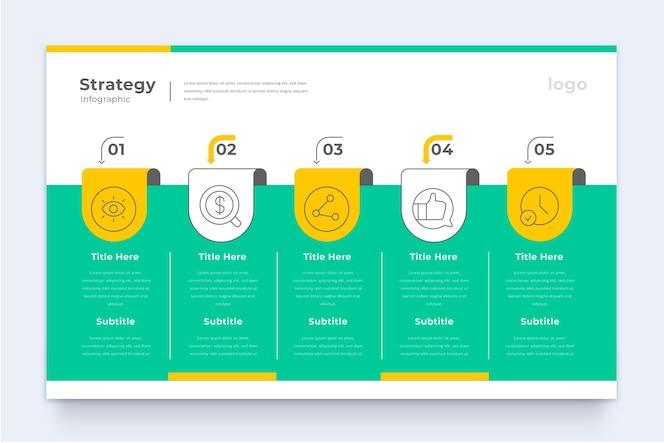 Plantilla de infografía de estrategia empresarial