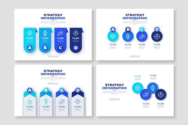 Plantilla de infografía de estrategia