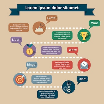 Plantilla de infografía de éxito