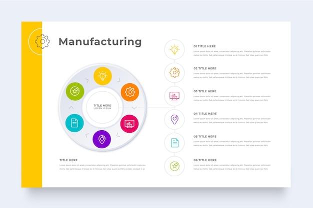 Plantilla de infografía de fabricación colorida