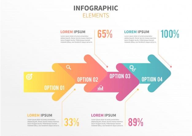 Plantilla de infografía de flecha