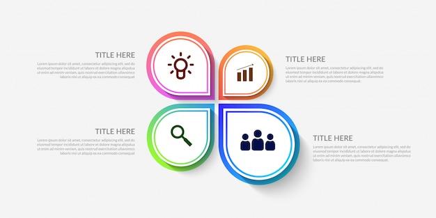 Plantilla de infografía de flujo de trabajo moderno