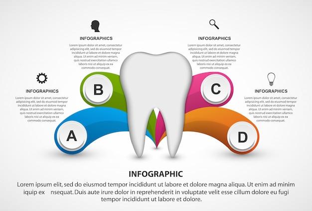 Plantilla de infografía para folleto de información.