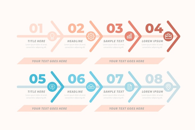 Plantilla de infografía de gráfico de cadena de valor