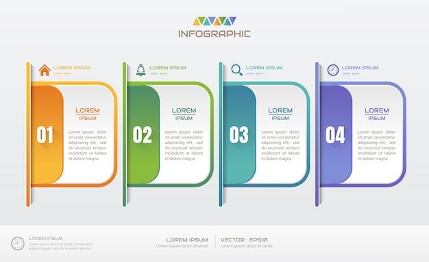 Plantilla de infografía con iconos