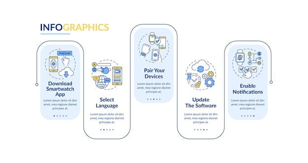 Plantilla de infografía de instalación de smartwatch