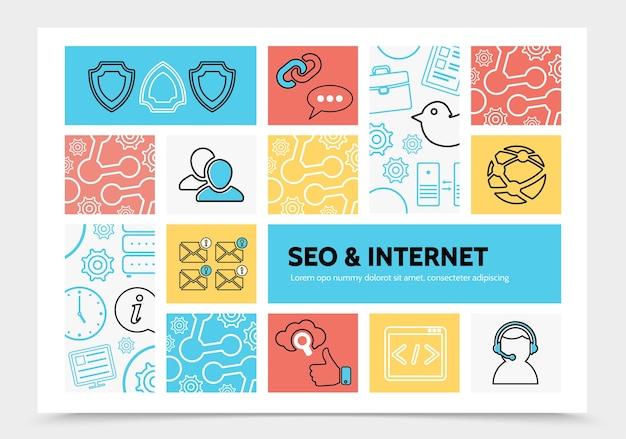 Plantilla de infografía de internet