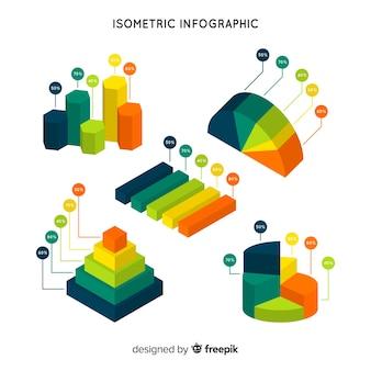 Plantilla de infografía isométrica