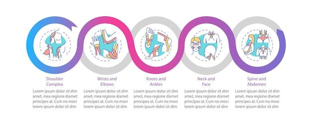 Plantilla de infografía de kinesiotape