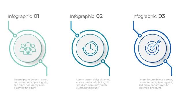 Plantilla de infografía de línea de tiempo de círculo