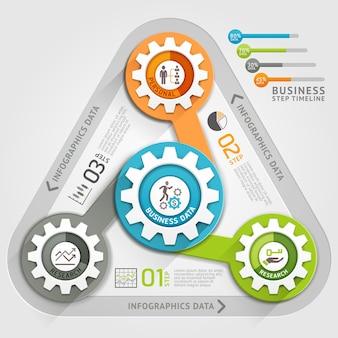 Plantilla de infografía de línea de tiempo empresarial.