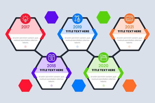 Plantilla de infografía de línea de tiempo