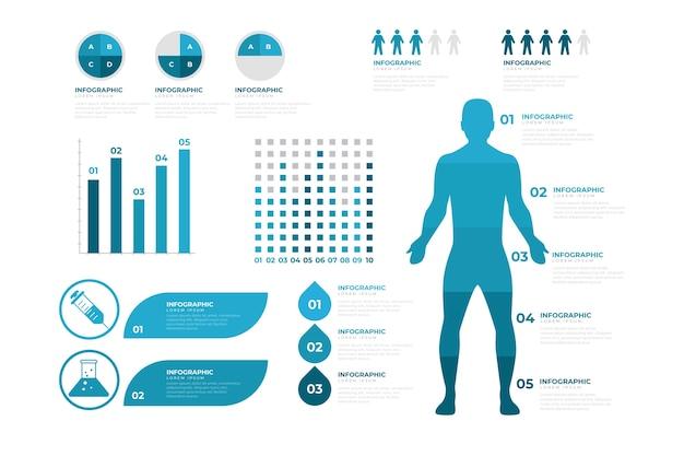 Plantilla de infografía médica