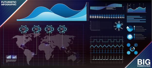 Plantilla de infografía moderna moderna con gráficos estadísticos y finanzas