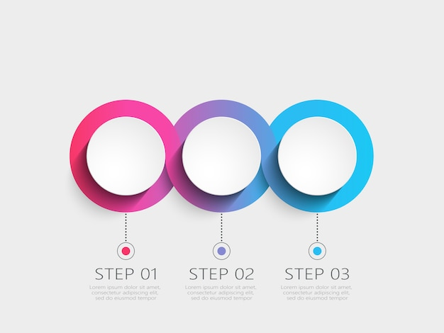 Plantilla de infografía moderna con pasos