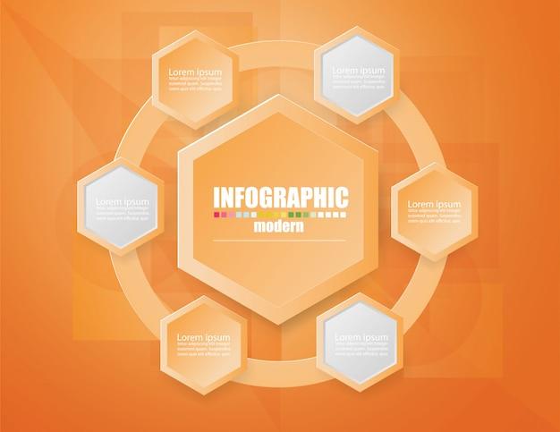 Plantilla de infografía de negocios el concepto de los pasos de escalera.