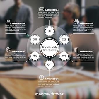 Plantilla de infografía de negocios con foto