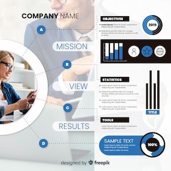 Plantilla de infografía para negocios con foto