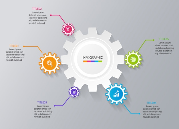 Plantilla de infografía de negocios para la presentación
