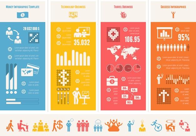 Plantilla de infografía de negocios.