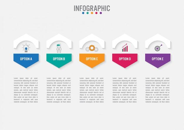 Plantilla de infografía de negocios