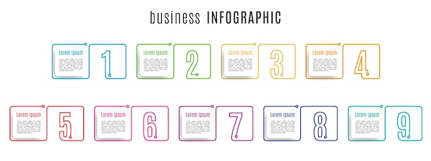 Plantilla de infografía de números de conjunto de elementos