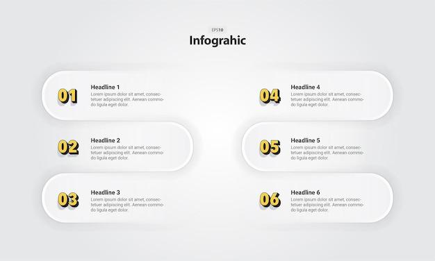 Plantilla de infografía con números de paso