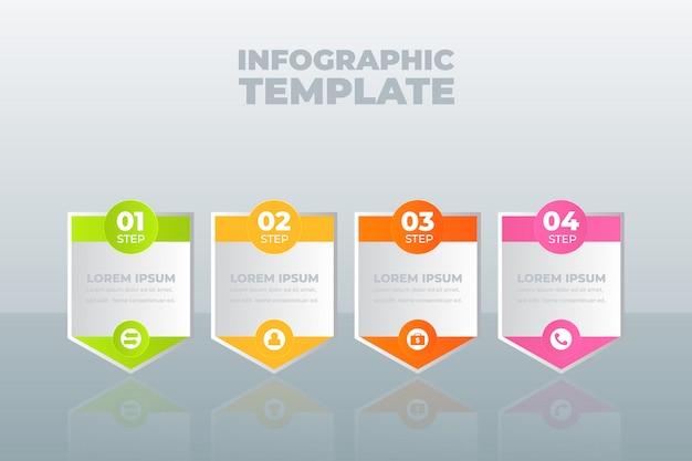 Plantilla de infografía con opciones o pasos