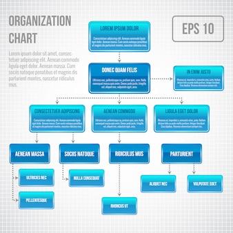 Plantilla de infografía organigrama