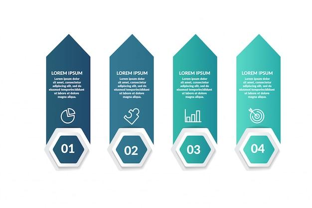 Plantilla de infografía paso para presentación