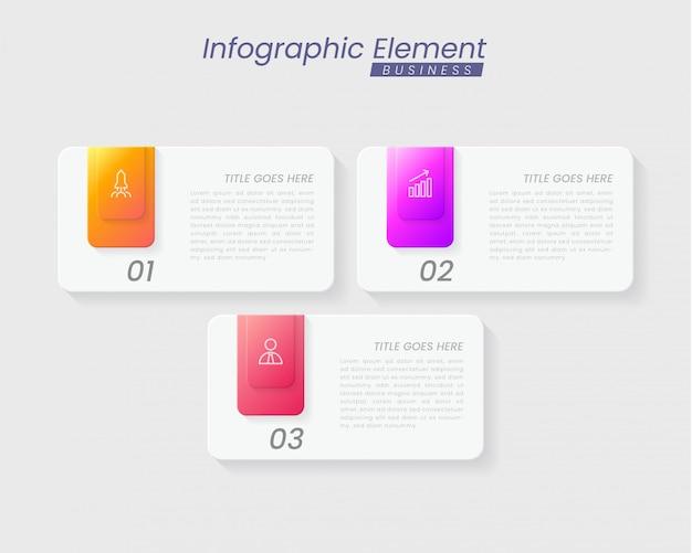 Plantilla de infografía con pasos para el éxito. presentación con iconos de línea, plantilla de proceso de gráfico de elementos de organización con texto editable. opciones para folleto, diagrama, flujo de trabajo, línea de tiempo, diseño web