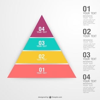 Plantilla de infografía piramidal